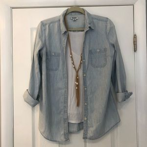 Old Navy Light Denim Button Down